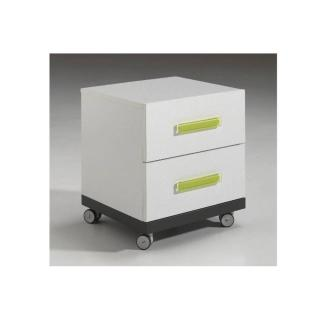 Chevet VOLANS 2 tiroirs blanc
