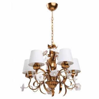Lustre Chiaro FLORA doré style classique 5 lumières