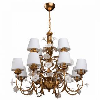 Lustre Chiaro FLORA doré style classique