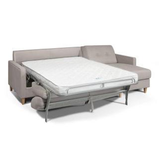 Canapé d'angle CHIC NORWAY matelas 14cm système rapido sommier lattes 160cm RENATONISI