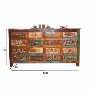 Chiffonnier design FELIZES en bois de manguier recyclé