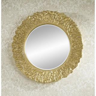 CIRCLES miroir mural design en verre - modèle or