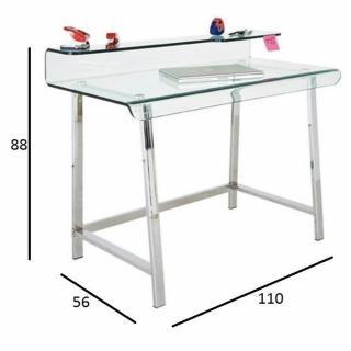 bureaux meubles et rangements bureau clear en verre et acier inoxydable inside75. Black Bedroom Furniture Sets. Home Design Ideas