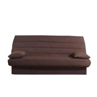 CLIC CLAC convertible LAUSANNE couleur chocolat 130*190cm matelas 12cm
