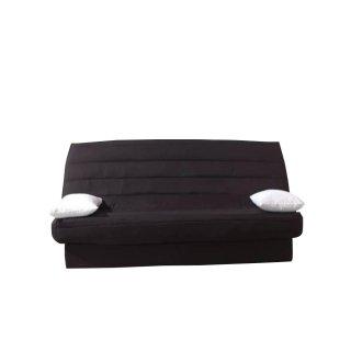 CLIC CLAC convertible LAUSANNE couleur noir 130*190cm matelas 12cm