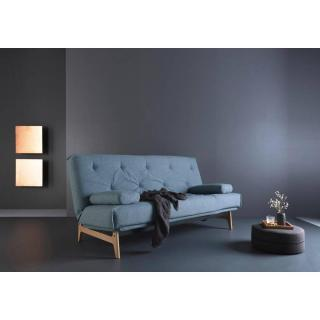 Canapé design mulitfonction ASLAK Mixed Dance_Light Blue convertible lit 140*200cm