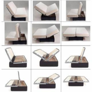 CLIC CLAC convertible LAUSANNE imprimé New York 130*190cm matelas 12cm