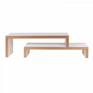 CLIFF 120 meuble TV modulable blanc mat et bois