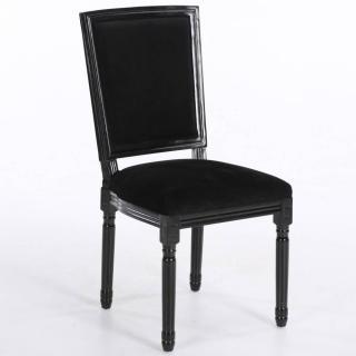 canap s convertibles ouverture rapido chaise design rustique clovis velours noir inside75. Black Bedroom Furniture Sets. Home Design Ideas
