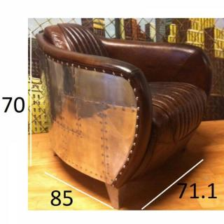 Fauteuils et poufs canap s et convertibles fauteuil club aviateur en cuir m - Fauteuil club aviateur ...