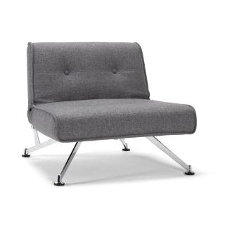 INNOVATION LIVING Fauteuil lit design CLUBBER gris convertible 113*115cm