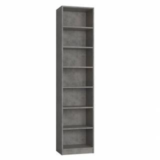Colonne de rangement bibliothèque gris béton L:50 x 35 H: 219 cm