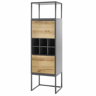 Rangement ABOU avec 1 niche 2 portes 1 étagère à bouteilles