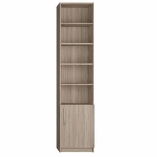Colonne de rangement bibliothèque 1 porte basse chêne 50 x 50 cm profondeur Ht : 219 cm