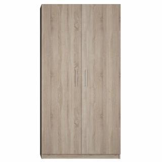 Armoire de rangement 2 portes lingère largeur 100 cm finition chêne naturel