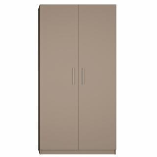 Armoire de rangement 2 portes lingère largeur 100 cm coloris taupe mat