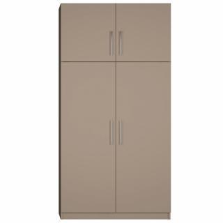 Armoire de rangement lingère 4 portes largeur 100 cm coloris taupe mat