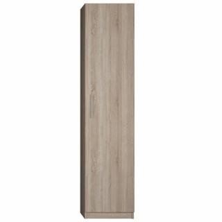 Colonne de rangement avec grande porte coloris chêne naturel largeur 50 cm