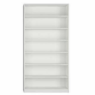 Colonne bibliothèque 6 étagères largeur 100 cm coloris blanc mat