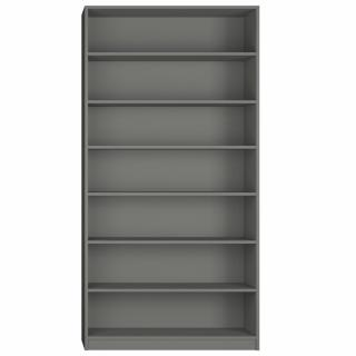 Colonne bibliothèque 6 étagères largeur 100 cm coloris gris graphite mat