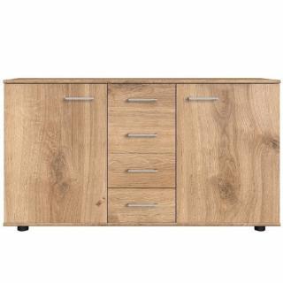 Buffet CARAMELLA 4 tiroirs 2 portes chêne poutre