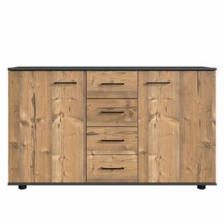 Commode 4 tiroirs 2 portes