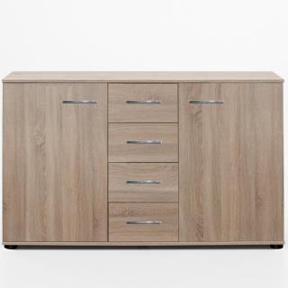 Buffet CARAMELLA  4 tiroirs 2 portes chêne