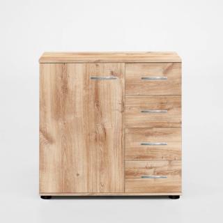 Buffet CARAMELLA 4 tiroirs 1 porte chêne poutre