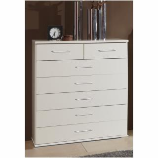 Commode 7 tiroirs DINGLE finition coloris blanc