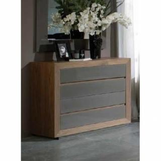 Commode ELCHE, 4 tiroirs finition taupe