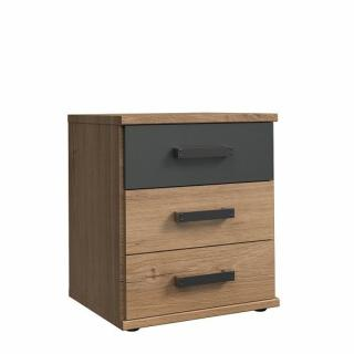Commode chevet 3 tiroirs GALWAY