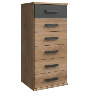 Commode chevet 6 tiroirs GALWAY