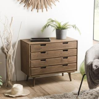 Commode scandinave 4 Tiroirs ANDY En Bois sapin