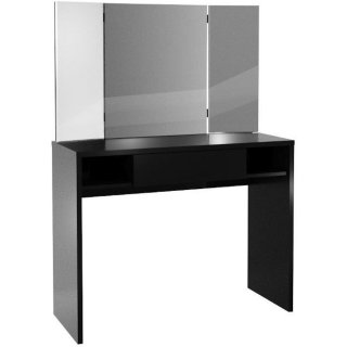 Console coiffeuse design SARREGUEMINES coloris noir 1 tiroir 2 plateaux fixes