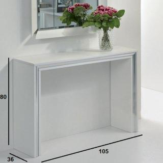 Console design ARCHIMEDE blanc mat