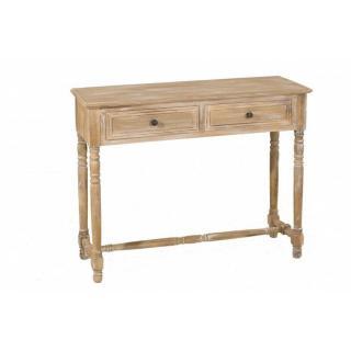 Console 2 tiroir SARAH en bois de paulownia style charme et campagne