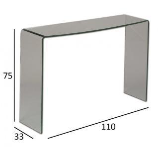 Console compact en verre VERSA