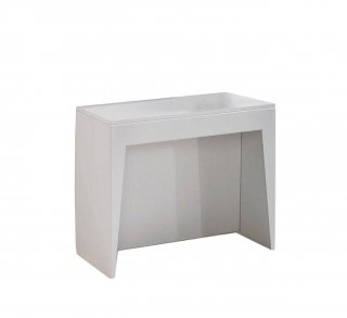 Table console extensible COSMIC blanc mat