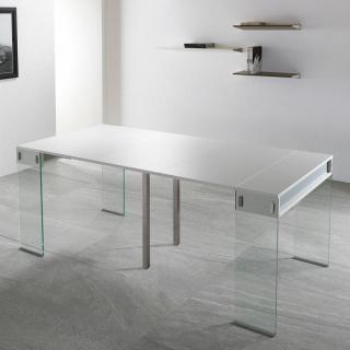 Console extensible le gain de place tendance au meilleur prix inside75 - Console extensible verre ...