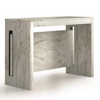 Console extensible 8 couverts TOPAZ 90 cm marbre