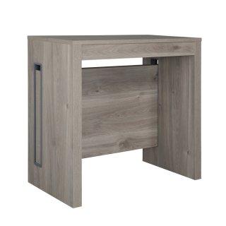 Table console extensible EXTENSIA Chêne Gris jusqu'à 8 couverts avec allonges intégrées