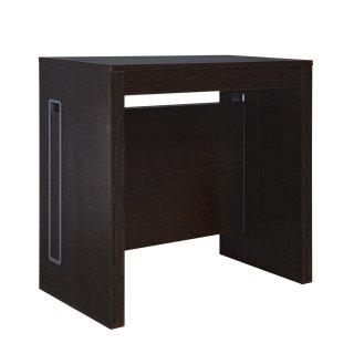 Table console extensible EXTENSIA Wengé jusqu'à 8 couverts avec allonges intégrées