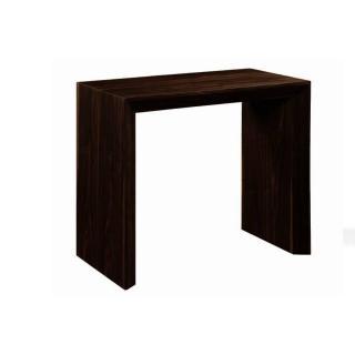 Console extensible en table repas EXTENSO DELUXE bois wengué foncé 12 couverts