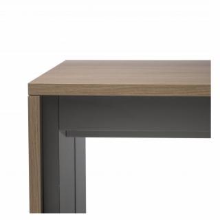 Console extensible FORDA Noyer/cadre gris ardoise largeur 90cm*270cm