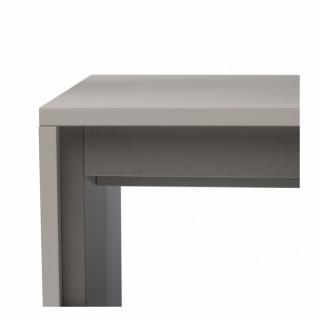 Console extensible FORDA gris ardoise/cadre gris ardoise largeur 120cm*270cm