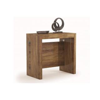 Table console extensible GRANDEZZA chêne foncé jusqu'à 8 couverts avec allonges intégrées