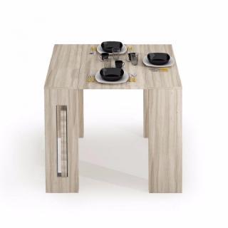 Table console extensible GRANDEZZA chêne jusqu'à 8 couverts avec allonges intégrées