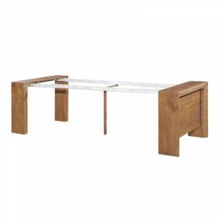 Consoles extensibles meubles et rangements console extensible misty noyer - Console extensible rallonges integrees ...