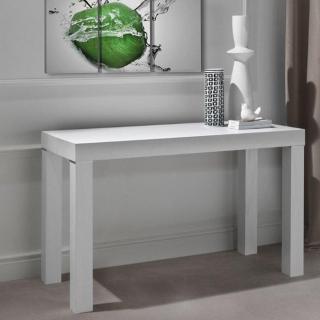 Console extensible PRATIKA chêne blanc 85 *50 cm 2 allonges de 50