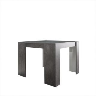 Console ELASTO béton, extensible en table repas 10 couverts.